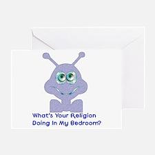 Bedroom Invaders Greeting Card