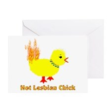 Hot Lesbian Chick Greeting Card