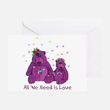 Purple Love Bears Greeting Card