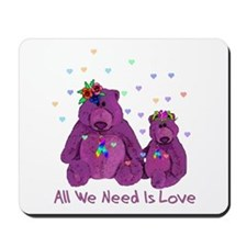 Purple Love Bears Mousepad