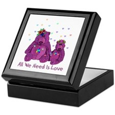 Purple Love Bears Keepsake Box