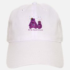 Purple Love Bears Baseball Baseball Cap
