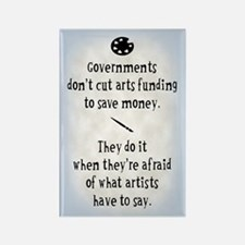 Arts Funding Rectangle Magnet