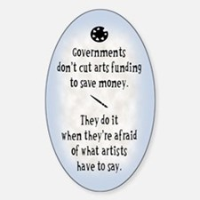 Arts Funding Sticker (Oval)