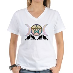 Cats Magic Goddess Pentagram Shirt