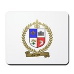 CARRIERE Family Crest Mousepad