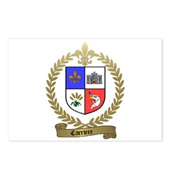 CARRIERE Family Crest Postcards (Package of 8)