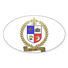 CARRIERE Family Crest Oval Decal