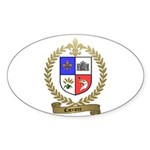 CARRIERE Family Crest Oval Sticker