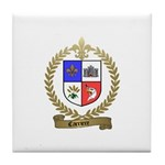 CARRIERE Family Crest Tile Coaster