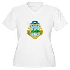 COSTARICA Womes Plus-Size V-Neck T-Shirt