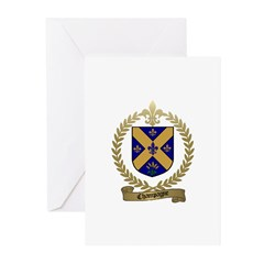 CHAMPAGNE Family Crest Greeting Cards (Package of