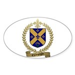 CHAMPAGNE Family Crest Oval Sticker