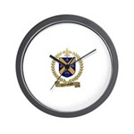CHAMPAGNE Family Crest Wall Clock