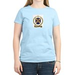CHAMPAGNE Family Crest Women's Pink T-Shirt