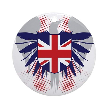 UK Winged Ornament (Round)