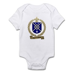 CHARBONNEAU Family Crest Infant Creeper
