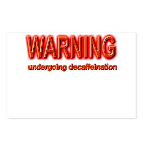 Warning Decaf Postcards (Package of 8)