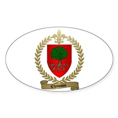 CHAISSON Family Crest Oval Decal