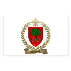 CHAISSON Family Crest Rectangle Decal