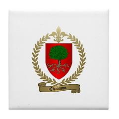 CHAISSON Family Crest Tile Coaster