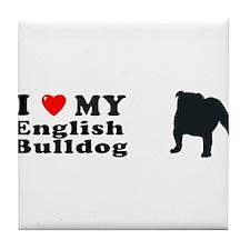 ENGLISH BULLDOG Tile Coaster