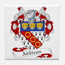 Addison Family Crest Tile Coaster