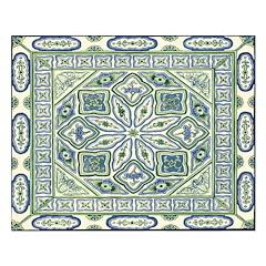 China (Blue) Unframed Print