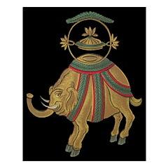 Decorative Asian Elephant 2 Unframed Print