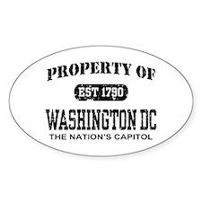 Property of Washington DC Oval Decal
