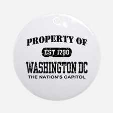 Property of Washington DC Ornament (Round)