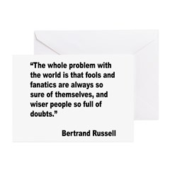 Russell Fools Fanatics Quote Greeting Cards (Pk of