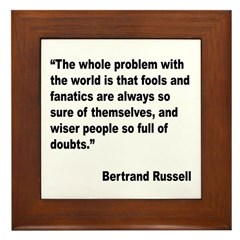 Russell Fools Fanatics Quote Framed Tile