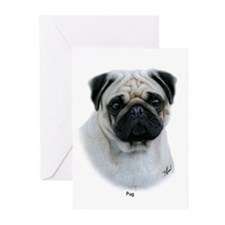 Pug 9Y383D-294 Greeting Cards (Pk of 20)