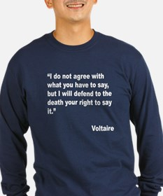 Voltaire Free Speech Quote (Front) T