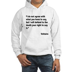 Voltaire Free Speech Quote Hoodie