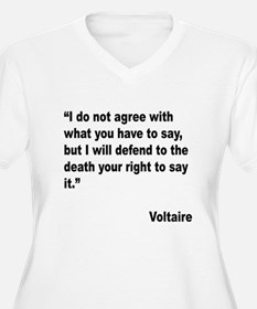 Voltaire Free Speech Quote T-Shirt
