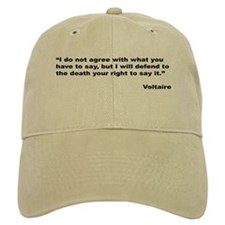 Voltaire Free Speech Quote Baseball Cap