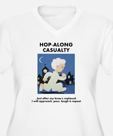 Hopalong Casualty till Knee Repl Plus Size T-Shirt