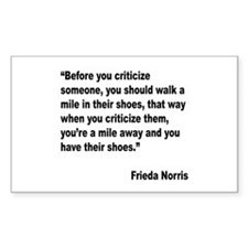 Norris Criticism Quote Rectangle Decal