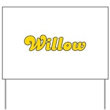 Retro Willow (Gold) Yard Sign