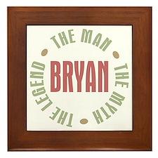 Bryan Man Myth Legend Framed Tile