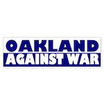 Oakland Against War bumper sticker