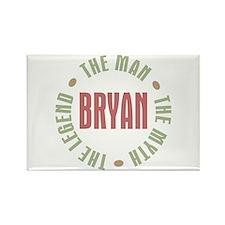 Bryan Man Myth Legend Rectangle Magnet (10 pack)