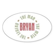 Bryan Man Myth Legend Oval Decal