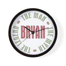 Bryan Man Myth Legend Wall Clock