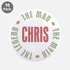 "Chris Man Myth Legend 3.5"" Button (10 pack)"