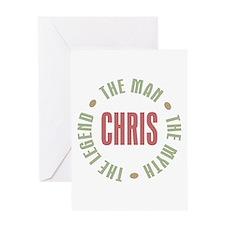 Chris Man Myth Legend Greeting Card
