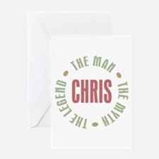 Chris Man Myth Legend Greeting Card