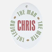 Chris Man Myth Legend Oval Ornament